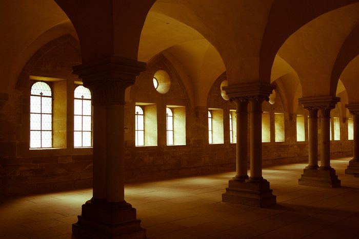 Photo of arches on a hallway